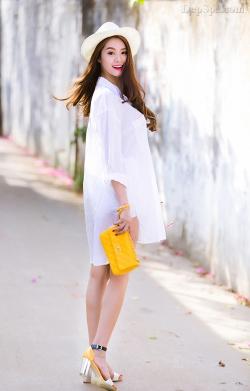 [ Người đẹp ] Linh Chi với ngày hè trẻ trung