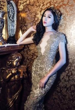 [ Người đẹp ] Thùy Trang hóa công chúa với đầm dạ hội