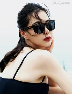 [ Người đẹp ] Hoa hậu Hàn khoe vẻ gợi cảm ở Đà Nẵng